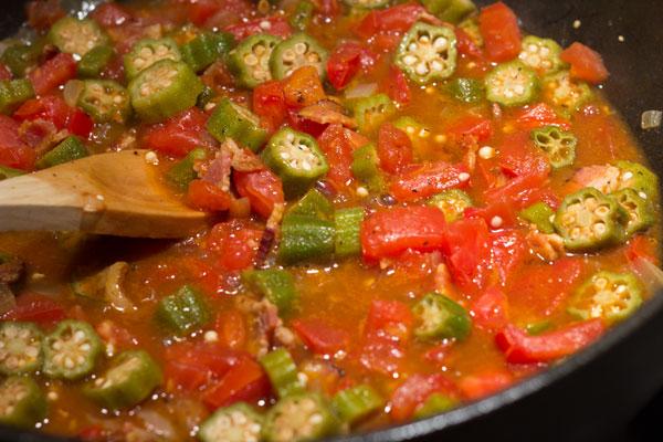 Okra and Tomatoes, Punjabi Style | Tomato Tango