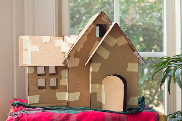 Making model houses out of cardboard