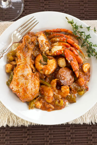Chicken, Sausage & Seafood Loaded Jambalaya | Mommie Cooks!