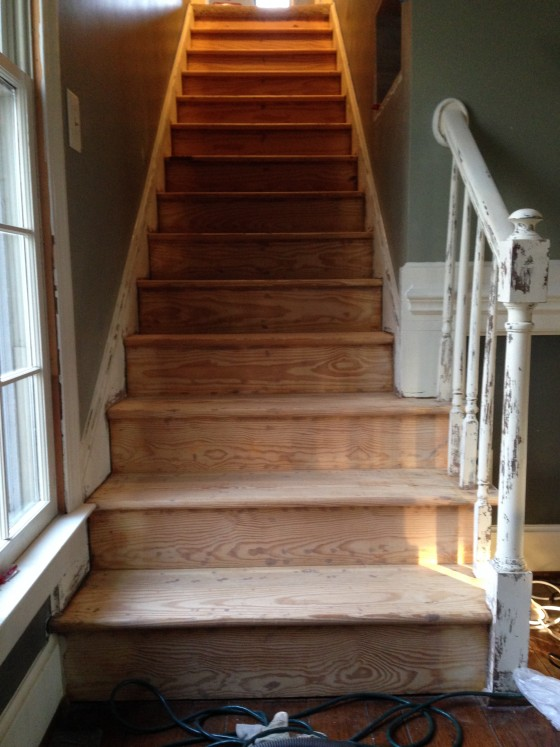 carpet removed from stairs