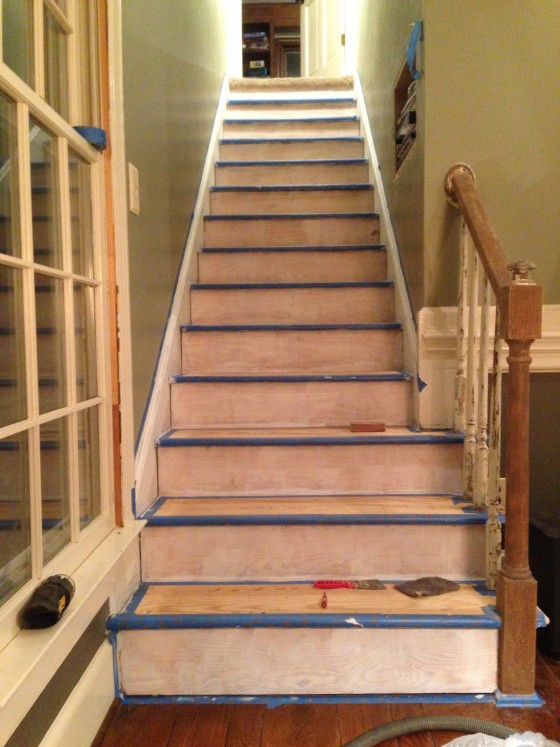stairs ready to paint