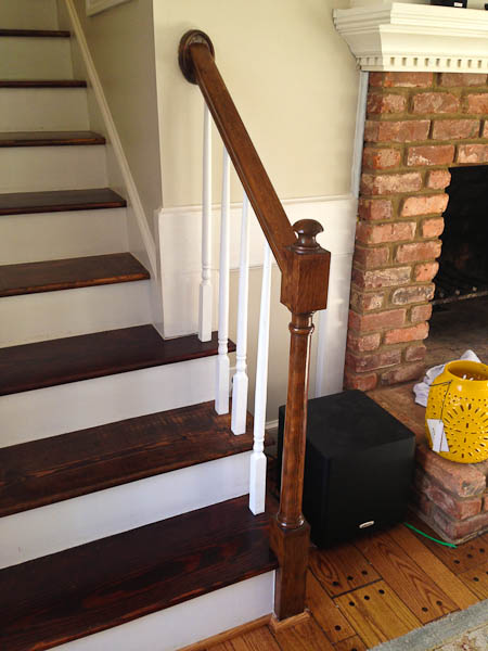 finished handrail for stairs