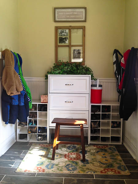 mudroom redo @mommiecooks