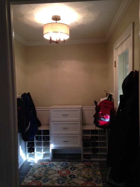 Making over the mudroom @mommiecooks