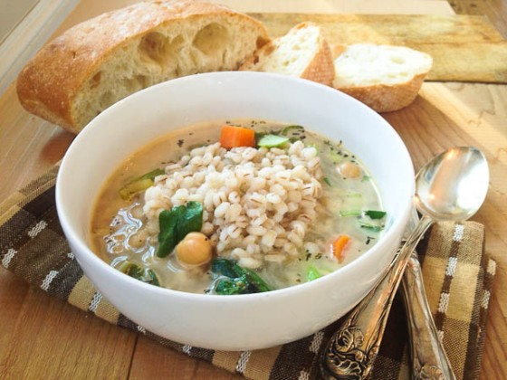 Veggie Barley Soup @mommiecooks