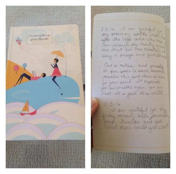gratitude journaling @mommiecooks