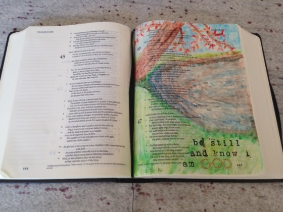 Bible journaling @mommiecooks