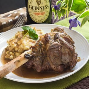 Guiness Braised Lamb Shanks