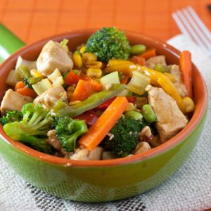 Chicken Vegetable Stir Fry a la Your Daily Vegetable Intake