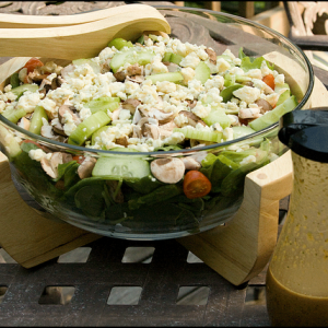 Mahi Mahi + Salad Fixings+ Homemade Asian Dressing